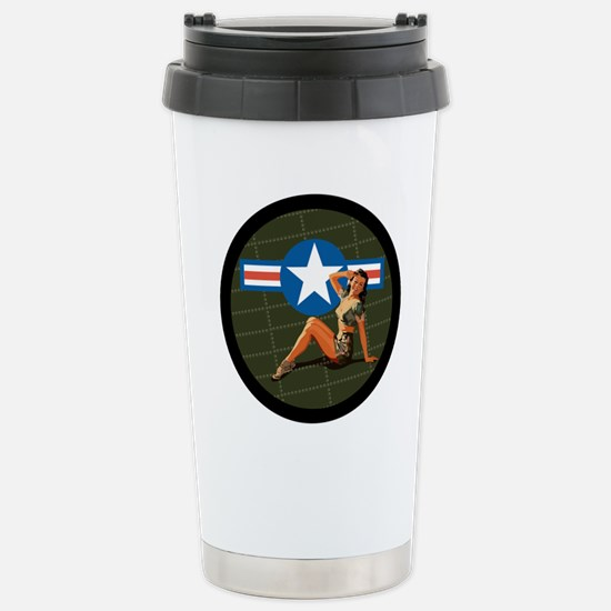 Air Force Pinup Girl Stainless Steel Travel Mug