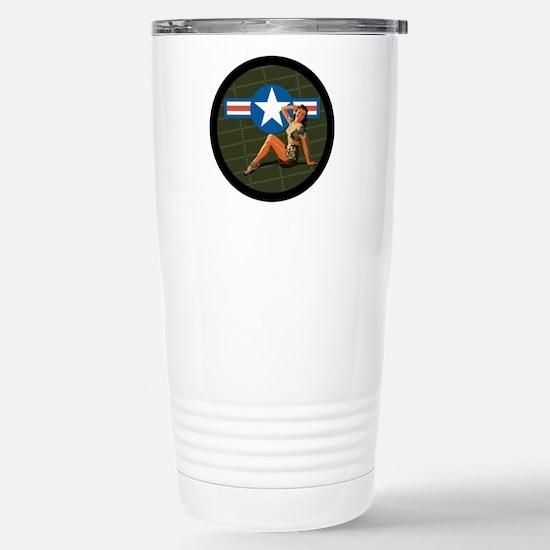 Air Force Pinup Girl Stainless Steel Travel Mug