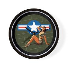 Air Force Pinup Girl Wall Clock