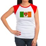 I Love Ireland Shamrock Heart Women's Cap Sleeve T