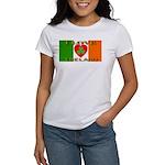 I Love Ireland Shamrock Heart Women's T-Shirt