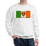 I Love Ireland Shamrock Heart Sweatshirt