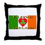 I Love Ireland Shamrock Heart Throw Pillow