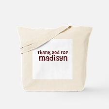 Thank God For Madisyn Tote Bag