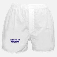 Thank God For Madisyn Boxer Shorts