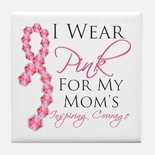 Mom Breast Cancer Tile Coaster