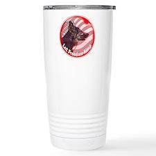 German Shepherd Let Freedom Ring Travel Mug