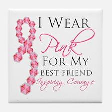 Best Friend - Breast Cancer Tile Coaster