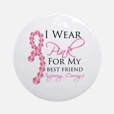 Best Friend - Breast Cancer Ornament (Round)