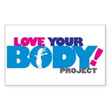 LOVE YOUR BODY! Rectangle Decal