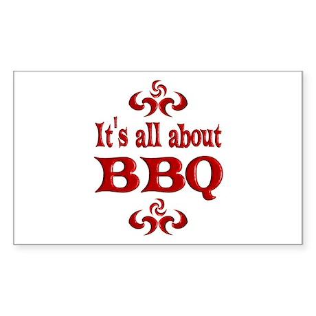 BBQ Sticker (Rectangle)