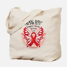 AIDS/HIV Butterfly 3 Tote Bag