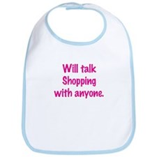 Talk Shopping Bib