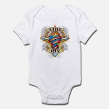 AIDS Cross and Heart Infant Bodysuit