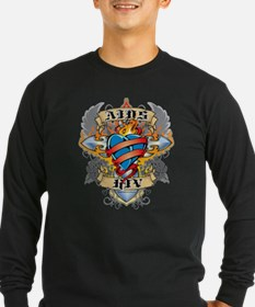 AIDS Cross and Heart T
