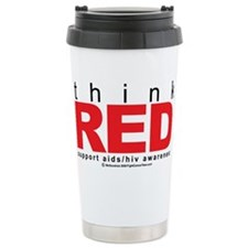 AIDS Think Red Travel Mug