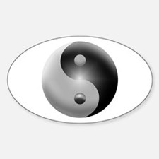 Yin Yang Sticker (Oval)