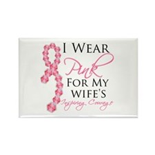 Wife - Breat Cancer Rectangle Magnet