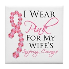 Wife - Breat Cancer Tile Coaster