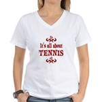 Tennis Women's V-Neck T-Shirt