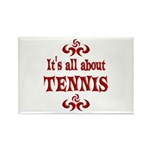 Tennis Rectangle Magnet (100 pack)