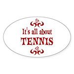 Tennis Sticker (Oval 10 pk)
