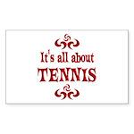Tennis Sticker (Rectangle 10 pk)