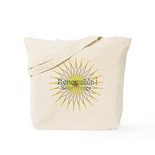 Renewable Solar Energy Tote Bag