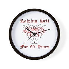 Raising Hell 80 Wall Clock