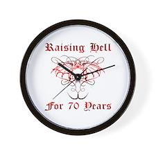 Raising Hell 70 Wall Clock