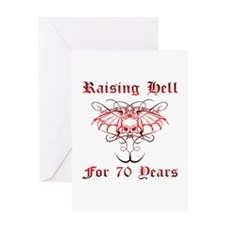 Raising Hell 70 Greeting Card