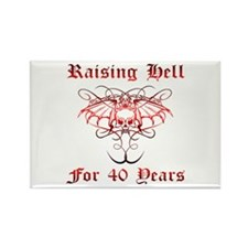 Raising Hell 40 Rectangle Magnet