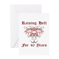 Raising Hell 40 Greeting Card