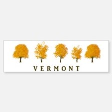 Autumn Trees - Vermont Bumper Bumper Sticker