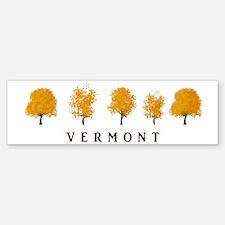 Autumn Trees - Vermont Sticker (Bumper)
