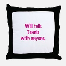 Funny Tennis chick Throw Pillow