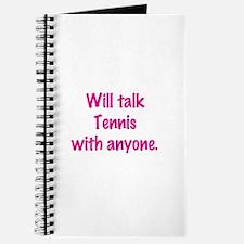 Cute Tennis chick Journal