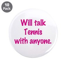 "Cute Tennis chick 3.5"" Button (10 pack)"