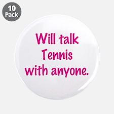 "Cute Tennis chick 3.5"" Button (10 pack)"
