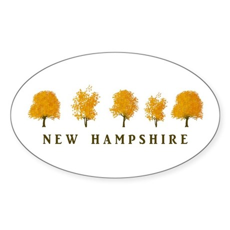 Autumn Trees - NH Sticker (Oval)