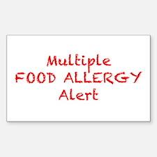 Unique Allergic to dairy Decal