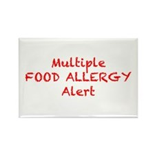 Funny Allergic to dairy Rectangle Magnet