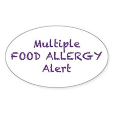 Multiple Food Allergy Alert Decal