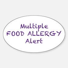 Multiple Food Allergy Alert Decal
