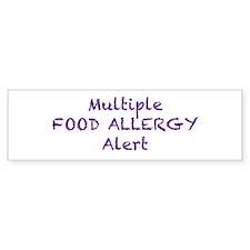 Multiple Food Allergy Alert Bumper Sticker