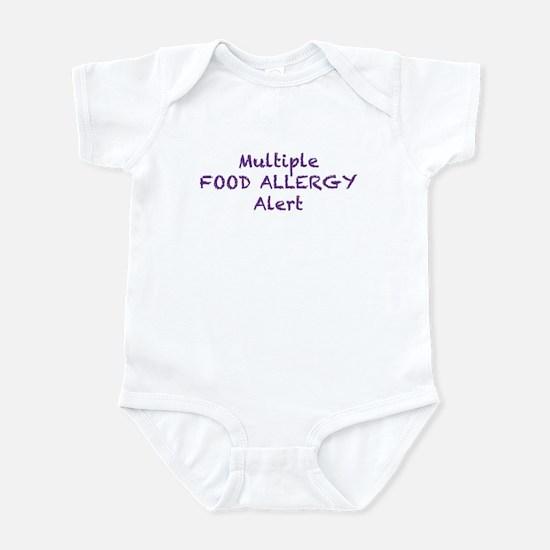 Multiple Food Allergy Alert Infant Bodysuit
