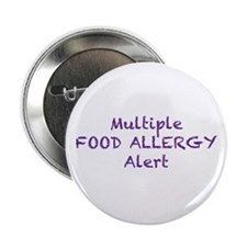 "Multiple Food Allergy Alert 2.25"" Button"