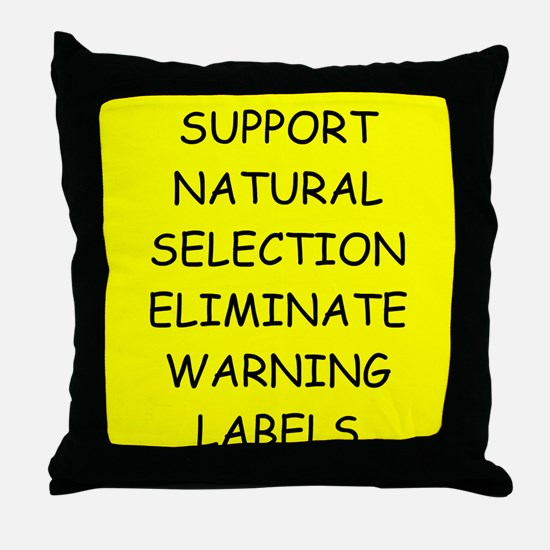 funny proverb Throw Pillow