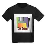 Old School Floppy Disk Kids Dark T-Shirt