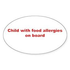 Cute Allergic gluten Decal